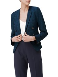 Lk Bennett L.K. Wren Tweed Jacket Navy