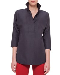 Akris Punto Elements Kimono Sleeve Blouse Black