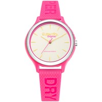 Superdry Syl151p Women's Sapporo Silicone Strap Watch Pink