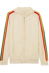 Chinti And Parker Rainbow Striped Cashmere Track Jacket Cream