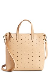 Madewell Mini Transport Perforated Leather Crossbody Bag Beige Linen