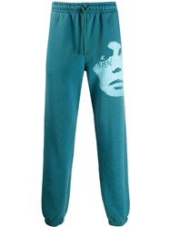 Misbhv The Screen Print Sweat Trousers Blue