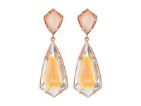 Kendra Scott Carey Earrings Rose Gold Brown Mother Of Pearl Earring