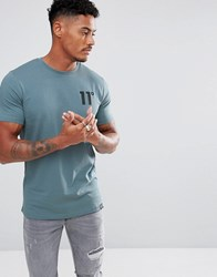 11 Degrees Muscle T Shirt In Blue
