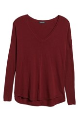 Trouve 'Everyday' V Neck Sweater Red Tannin