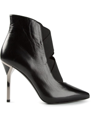 Ballin Pointed Toe Ankle Boots Black