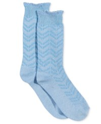 Charter Club Chevron Striped Socks Only At Macy's Periwinkle