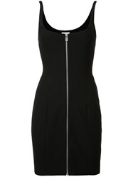 Cinq A Sept Front Zip Fitted Dress Black