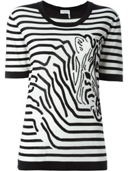 Sonia Rykiel Zebra Striped T Shirt Black