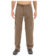 Prana Stretch Zion Convertible Pant Mud Casual Pants Taupe