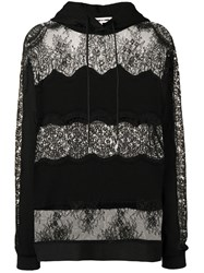 Mcq By Alexander Mcqueen Lace Panel Hoodie Black