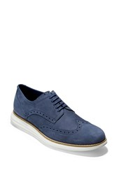 Cole Haan Original Grand Wingtip Wide Width Available Blazer Blu