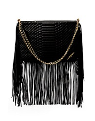 Brian Atwood Anepal Embossed Leather Bag Black