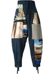 Blood Brother Loose Fit Patchwork Trousers Multicolour