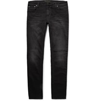 Nudie Jeans Skinny Lin Organic Stretch Denim Black