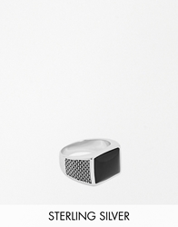 Seven London Onyx Ring In Sterling Silver