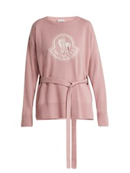 Moncler Maglione Wool And Cashmere Blend Sweater Pink