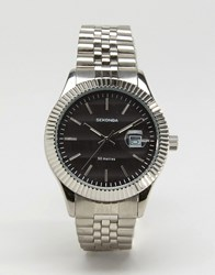 Sekonda Silver Bracelet Watch With Black Dial Exclusive To Asos Silver
