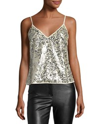 Goldie London Twilight Sequined Tank Silver