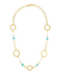 Stephanie Kantis Love Long Beaded Chain Necklace Turquoise