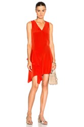 Derek Lam 10 Crosby Asymmetrical Tank Dress In Red