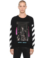 Off White Caravaggio Printed Cotton Sweatshirt