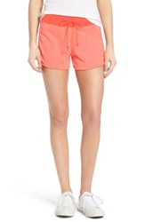 Converse Women's Eng Knit Shorts Red Hyper Orange
