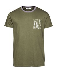 Wesc Benny Textured Cotton Tee Forest Green
