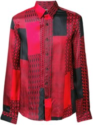 Roberto Cavalli Print Mix Shirt Red