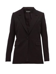 Ann Demeulemeester Single Breasted Wool Blend Boyfriend Blazer Black