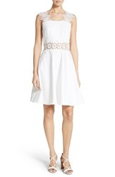 Ted Baker Women's London Monaa Lace Trim A Line Dress