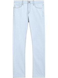 Burberry Straight Fit Bleached Japanese Denim Jeans Blue