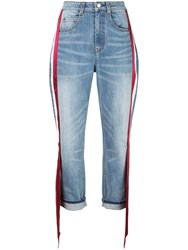 Hellessy Ribbon Side Tapered Jeans Blue