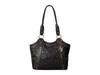 American West Over The Rainbow Zip Top Fashion Tote Black Tote Handbags
