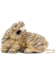 Judith Leiber Couture Majesty Foo Dog Bag Crystal Metallic