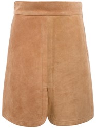 See By Chloe Front Slit Skirt Nude Neutrals