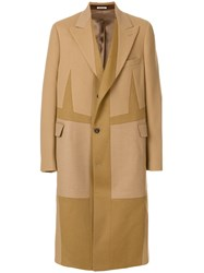 Alexander Mcqueen Oversized Single Breasted Coat Nude And Neutrals