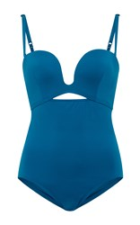 Proenza Schouler Cutout Swimsuit Blue
