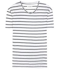 Etoile Isabel Marant Andreia Linen And Cotton T Shirt White