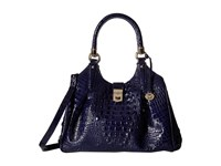 Brahmin Elisa Ink Satchel Handbags Navy