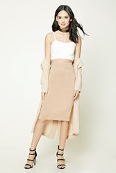 Forever 21 Slub Knit Midi Pencil Skirt