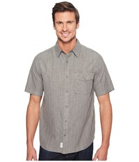Woolrich Zephyr Ridge Solid Shirt Steel Gray Men's Short Sleeve Button Up
