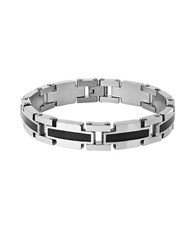 Lord And Taylor Two Tone Link Bracelet Silver