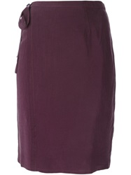 Humanoid Wrap Straight Skirt Pink And Purple