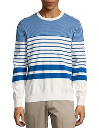 Brooks Brothers Striped Cotton Pullover Blue
