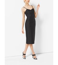 Silk And Wool Shantung Slip Sheath Dress