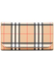 Burberry Vintage Check Continental Wallet Brown