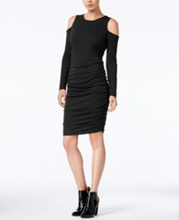 Bar Iii Cold Shoulder Bodycon Dress Only At Macy's Deep Black