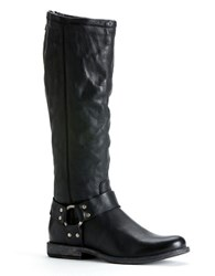 Frye Phillip Harness Riding Boots Black