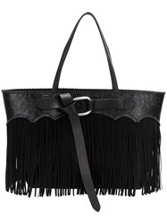 Dsquared2 Fringed Tote Bag Black